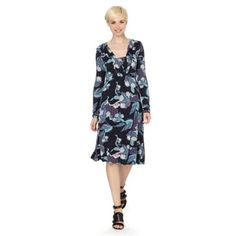 RJR.John Rocha Designer navy floral jersey dress- at Debenhams.com