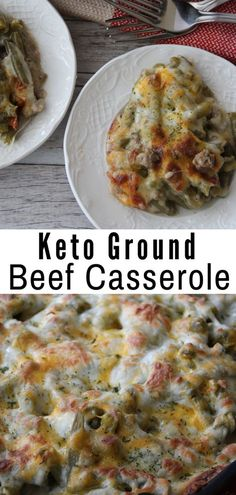Diet Recipes This Keto Ground Beef Casserole is the perfect comfort dish for these long cold months. Easy to make and hearty, you'll love every single bite. Keto Foods, Ketogenic Recipes, Low Carb Recipes, Beef Recipes, Cooking Recipes, Healthy Recipes, Ketogenic Diet, Easy Recipes, Ground Beef Keto Recipes