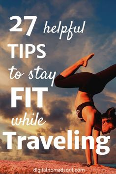 It's hard to stay fit while traveling. Many people gain weight or get sick from eating unhealthy. Get the best tips on how to stay in shape while traveling. It doesn't matter if you are a digital nomad long-term traveler expat or just travel occasionally. Travel Workout, High Intensity Interval Training, Stay In Shape, Digital Nomad, Fitness Tips, Fitness Motivation, Travel Tips, Travel Hacks, Hiit