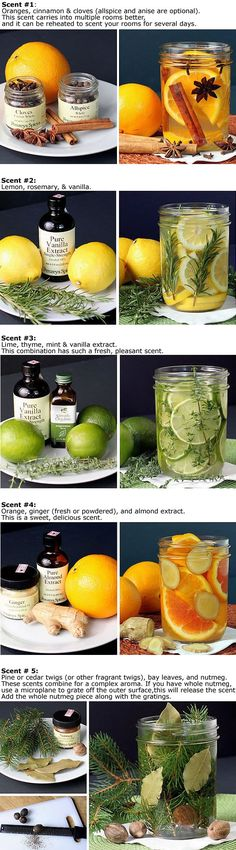 Natural Room Scents - These combos are made with very hot water added for a temporary room freshening fragrance....