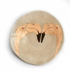 Handmade Bird Plate by Gemma Orkin Clay Birds, Ceramic Birds, Ceramic Pottery, Painted Pottery, Ceramic Houses, Ceramic Tableware, Modern Ceramics, Pottery Painting, Bird Design