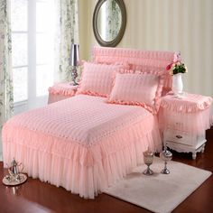 Like and Share if you want this  Girls Princess Cotton Lace Bed skir     Tag a friend who would love this!     FREE Shipping Worldwide     Buy one here---> https://www.cancoot.com/girls-princess-cotton-lace-bed-skir/