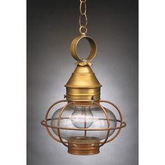 Northeast Lantern Onion 1 Light Outdoor Hanging Lantern Finish:
