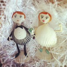 seashell owls | seashell folk, off to celebrate