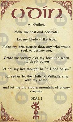 A Viking Norse Prayer To Odin By FantasySkyArt Photography. Odin Norse Mythology, Norse Runes, Norse Pagan, Viking Symbols And Meanings, Norse Symbols, Mayan Symbols, Egyptian Symbols, Ancient Symbols, Viking Life