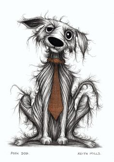 Posh dog Print download Dapper doggie wearing very smart fashionable and trendy…