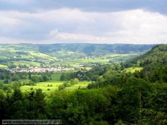 Llanrwst a town in the Conwy Valley, North Wales, as seen from a view-point in the hills above Trefriw. Near the beautiful Plas Cwta holiday cottage. http://www.sheepskinlife.com/relax-at/plas-cwta/