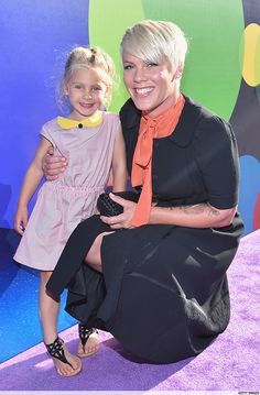 Pink's Daughter Looks Gorgeous At The 'Inside Out' Premiere wearing Leoca's SS15 Town & Sea Dress