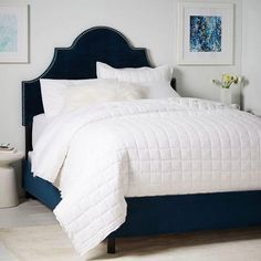 Lovely Polly Upholstered Blue Bed Great Pictures