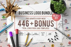 446 Business Logo Bundle -98,5%+ OFF by Acongraphic on @creativemarket