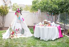 create a tribal themed teepee party for girl bohemian chic birthday party decorating ideas