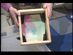 Coloring Your Handmade Paper: Tutorial from Arnold Grummer, you will learn all about how to add color to your handmade paper, and how to make beautiful colored envelopes!