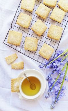 Chamomile Tea and Lemon Shortbread | 37 Delicious Desserts You Can Make With Tea