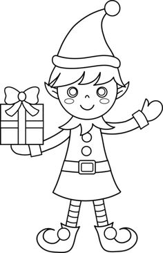 Find the desired and make your own gallery using pin. Elf clipart black and white - pin to your gallery. Explore what was found for the elf clipart black and white Free Coloring Sheets, Cute Coloring Pages, Coloring Pages To Print, Coloring Pages For Kids, Coloring Books, Kids Coloring, Colouring, Printable Christmas Coloring Pages, Christmas Coloring Sheets