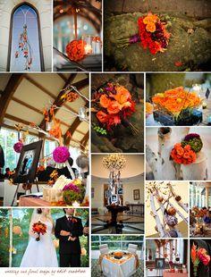 fall orange & plum wedding