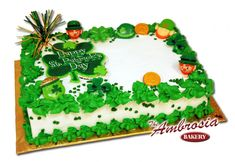 Patrick's Day Cake! Patrick's Day Cake! St Patricks Day Cakes, Happy St Patricks Day, Sheet Cake Recipes, Sheet Cakes, St Paddys Day, Spring Recipes, Cookie Desserts, Cakes And More, Cake Cookies