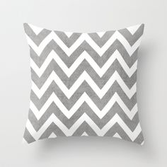 gray chevron Throw Pillow by Her Art - $20.00