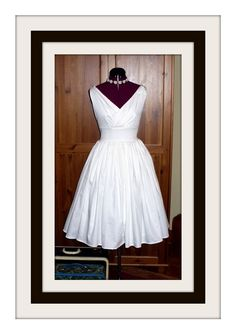 Vintage Wedding Dress with Surplice Bodice and Pockets - 5176 - listing is for all sizes