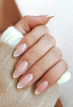 French Nails, French Manicure Nails, Manicures, Almond Nails French, Neutral Nail Designs, Neutral Nails, Nail Art Designs, Almond Nails Designs, French Manicure Designs