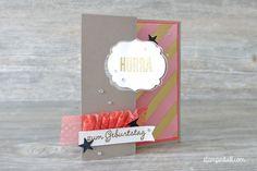 Pop Up Karte Etikett Stampin Up Melonensorbet Geburtstagskarte Birthdaycard