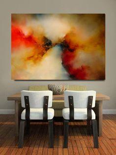 "Large Canvas Abstract Painting "" Awaken II"" :)"