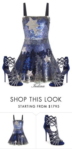 """""""Untitled #4038"""" by teastylef ❤ liked on Polyvore featuring Valentino and Giuseppe Zanotti"""