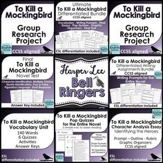 To Kill A Mockingbird Quote Analysis Worksheets | Education ...