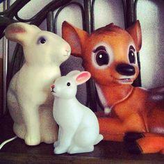 Les veilleuses lapin & bambi en vente chez Cabane Kids