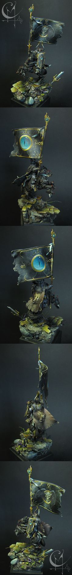 Warriors of Chaos - Battle Standard Bearer of Tzeentch - I can only imagine that this was a very expensive conversion