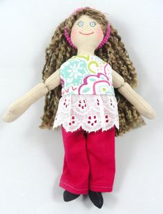 Dress Up Doll With Freckles by JoellesDolls on Etsy