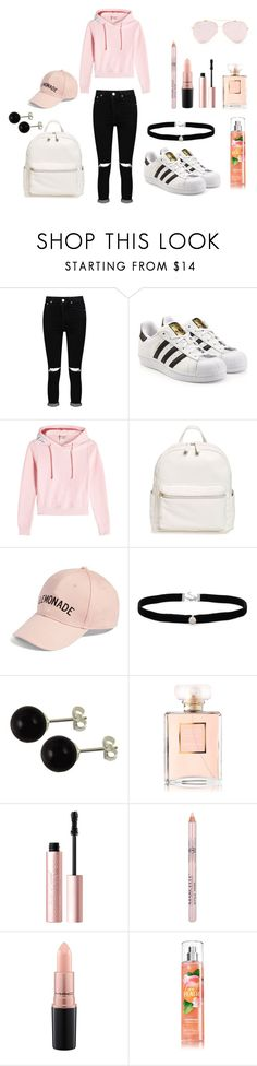 """Spring"" by lenka-skodiova on Polyvore featuring Boohoo, adidas Originals, Vetements, BP., Amici Accessories, Amanda Rose Collection, Chanel, Too Faced Cosmetics and MAC Cosmetics"