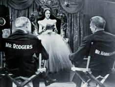 Cinderella, 1957 - Julie Andrews rehearsing with Rodgers and Hammerstein
