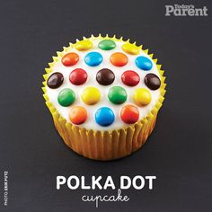 We came up with a bunch of #cupcakeideas, and a polka dot-themed one was added to the roster. How cute?! Cupcake Recipes, Cupcake Cakes, Dessert Recipes, Desserts, Polka Dot Cupcakes, Yummy Cupcakes, Todays Parent, Baking With Kids, Birthday Parties