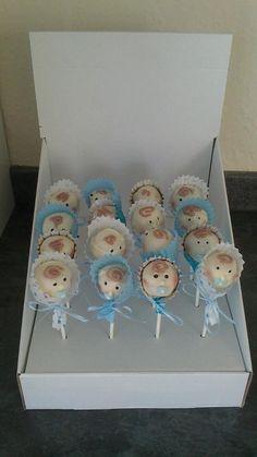 Baby Boy Christening Cake Pops