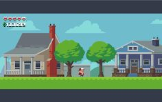 """""""Workin' on makin' this old mockup a real game, lotta assets that have been just waiting for love #pixelart #indie"""""""