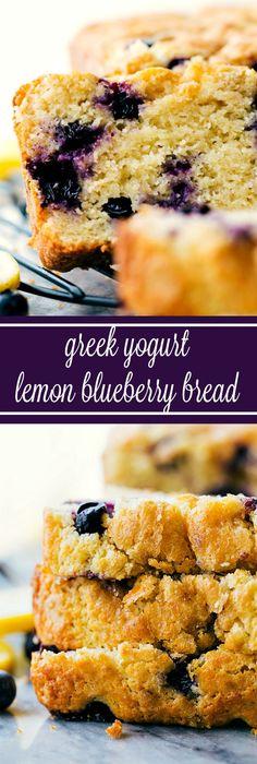 Healthier Greek Yogurt Lemon Blueberry Bread (Video)