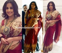 Vidya Balan in Gaurang Shah Kalamkari Saree photo