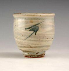 Tatsuzo Shimaoka Ceramic Jomon Inlaid yunomi teacup