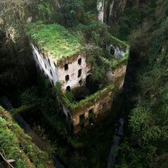 Deep Valley of the Mills, Sorrento, Italy. Abandoned in I can't believe that I have been to Sorrento three times and missed seeing this. on my list of places to see when next I travel to Italy. Places Around The World, Oh The Places You'll Go, Places To Travel, Places To Visit, Around The Worlds, Lost Places, Hidden Places, Travel Things, Travel Stuff