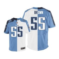 Zach Brown Men's Elite Team/Road Two Tone Jersey: Nike NFL Tennessee Titans #55