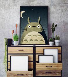 My neighbor totoro poster Totoro wall art Studio ghibli poster