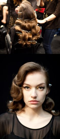 hollywood curls, or finger wave