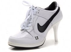 hot sales c9780 d393d Nike Dunk Unlucky 13 High Heels White Black - Nike Wedge Sneakers a href