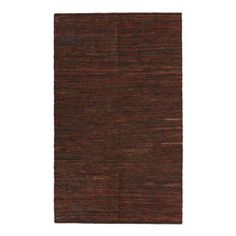 @Overstock.com - (5' x 8') Hand-woven Chindi Brown Leather Rug - Give your home or office a rich, rustic appeal with this contemporary handwoven brown leather rug. The solid pattern, rectangular rug features deep hues of brown and chocolate leather and suede and has a reversible design for extra durability.  http://www.overstock.com/Home-Garden/5-x-8-Hand-woven-Chindi-Brown-Leather-Rug/1777740/product.html?CID=214117 $89.99