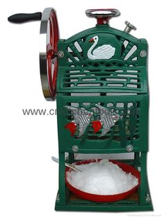 Wow manual shaved ice machine starting