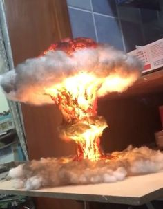 Nuclear Explosion Bomb Diorama model LIGHT night lamp nuke fallout little boy fat man decorative military mushroom cloud Mushroom Cloud, Filigranes Design, Air Brush Painting, Night Lamps, Purple Aesthetic, Stop Motion, Cool Gadgets, Fallout, Home Crafts