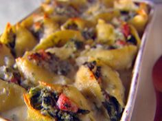 Shells with Crispy Pancetta and Spinach Recipe : Giada De Laurentiis : Food Network - FoodNetwork.com