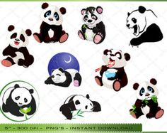 cute panda clip art - Google Search