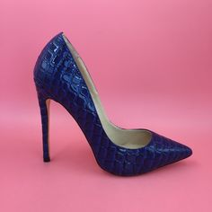 Royal Blue Pointed Toe High Heel Party Pump Shoes To Match Bags Womens Heels  Stilettos Shoes Custom Color True To US Size a341643a15b8