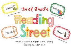 1st Grade Reading Street Vocabulary Cards and Assessments $3